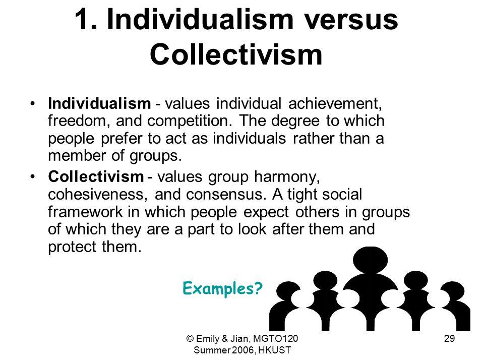 1. Individualism versus Collectivism