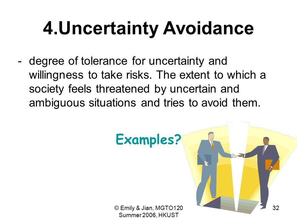 4.Uncertainty Avoidance