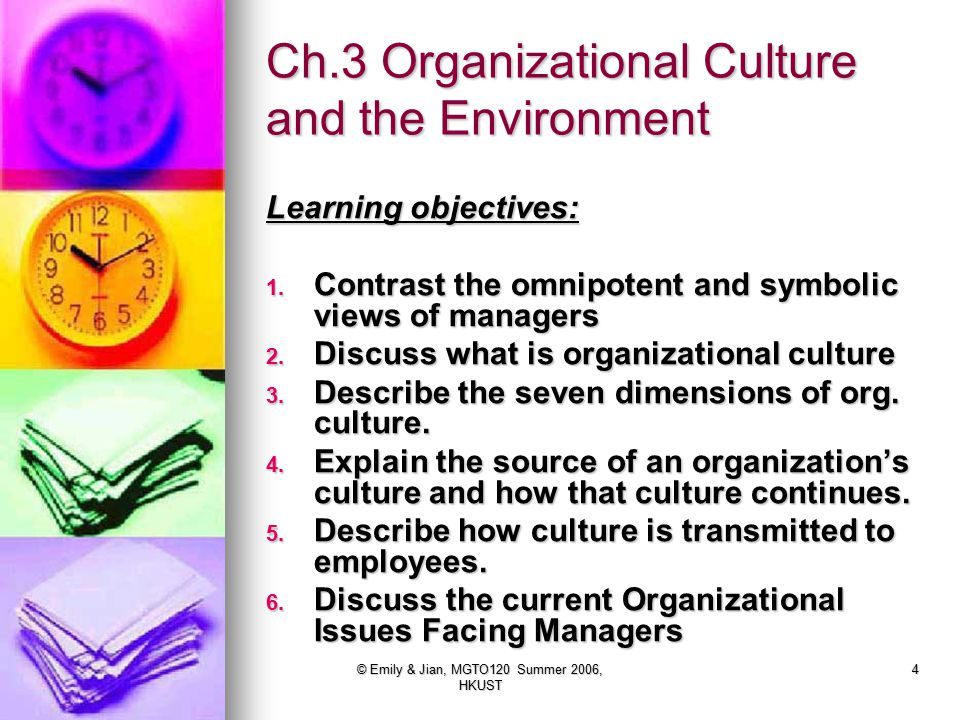 Ch.3 Organizational Culture and the Environment