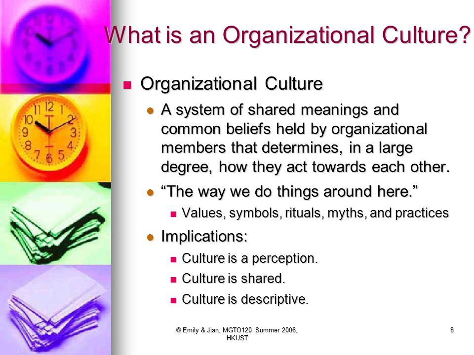 What is an Organizational Culture