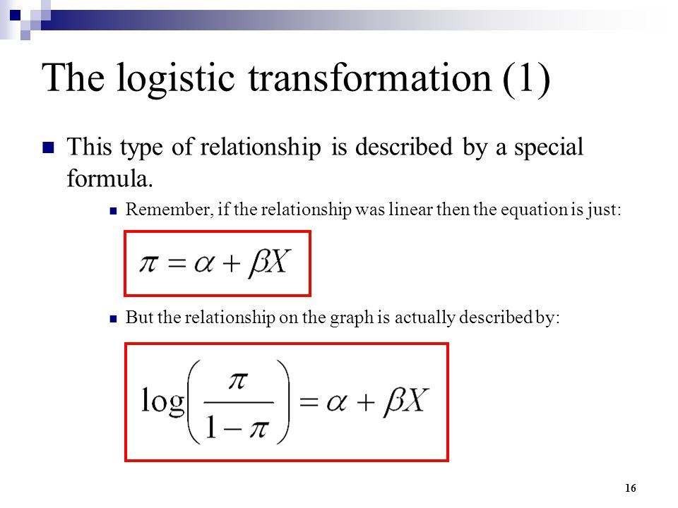 The logistic transformation (1)