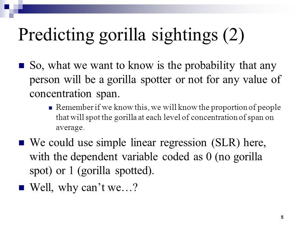 Predicting gorilla sightings (2)