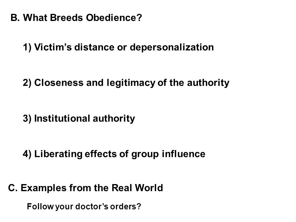 B. What Breeds Obedience