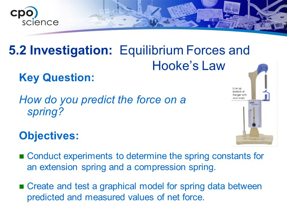 5.2 Investigation: Equilibrium Forces and Hooke's Law