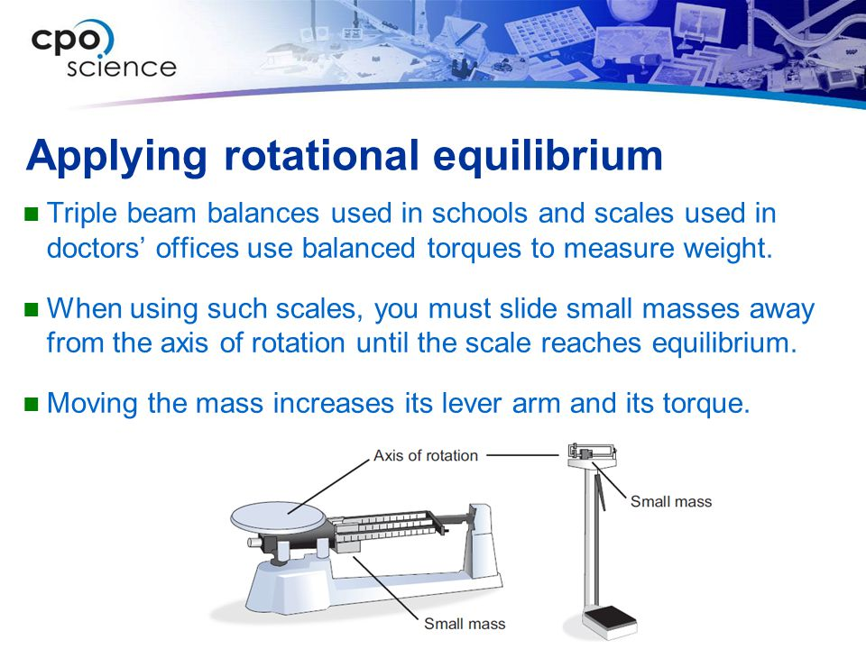 Applying rotational equilibrium