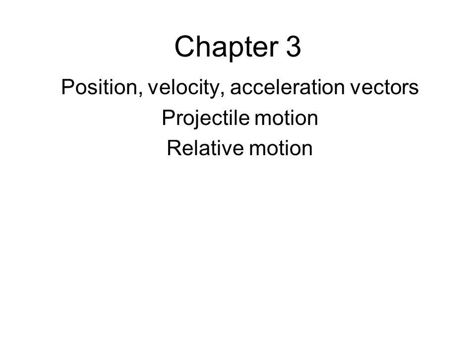 Position, velocity, acceleration vectors