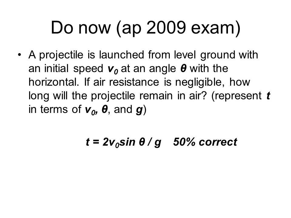 Do now (ap 2009 exam)