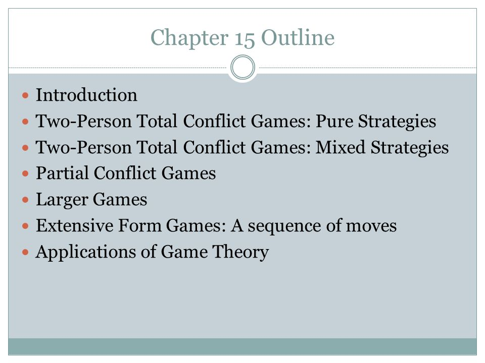 Chapter 15 Outline Introduction