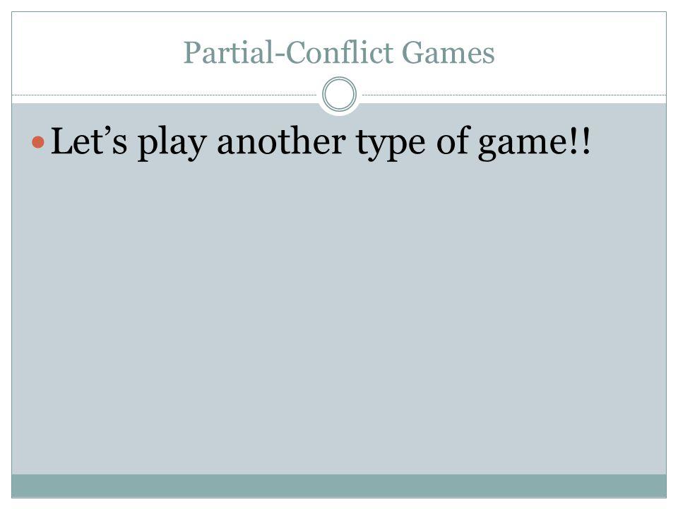 Partial-Conflict Games