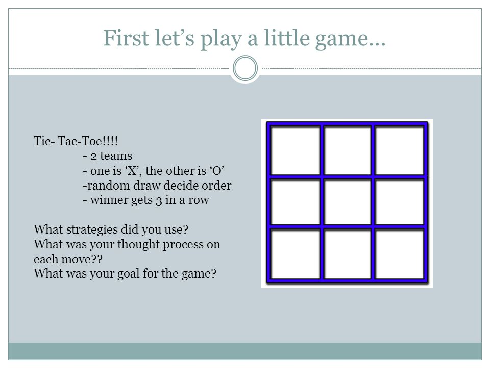 First let's play a little game…