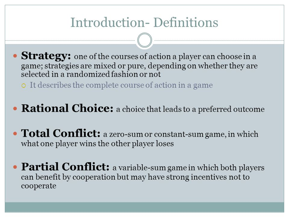 Introduction- Definitions