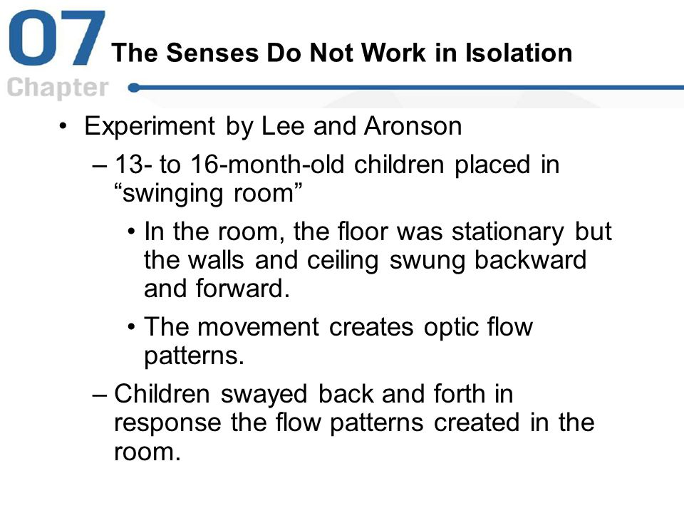 The Senses Do Not Work in Isolation