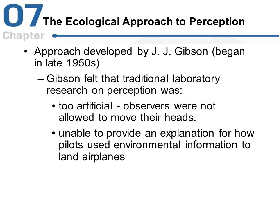 The Ecological Approach to Perception