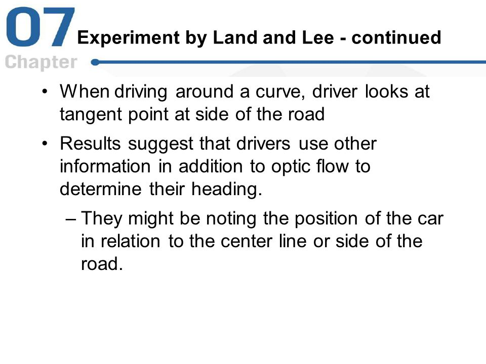 Experiment by Land and Lee - continued