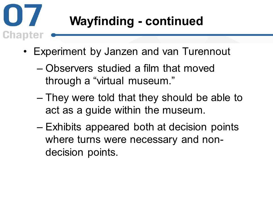 Wayfinding - continued