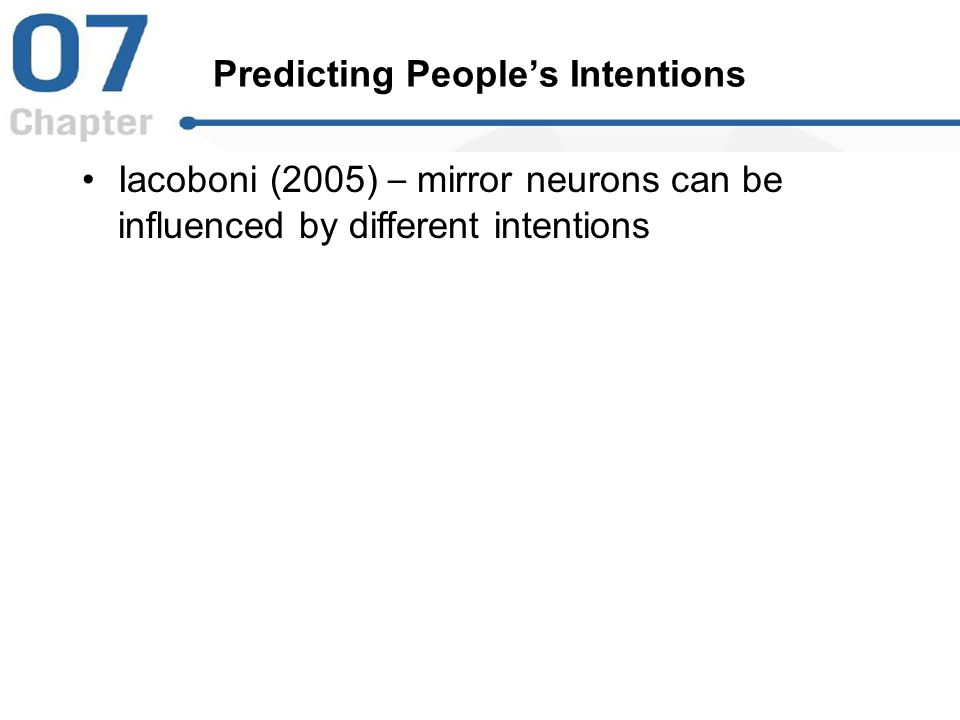 Predicting People's Intentions