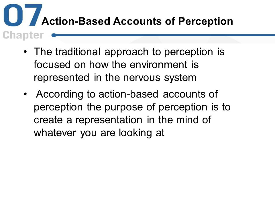Action-Based Accounts of Perception