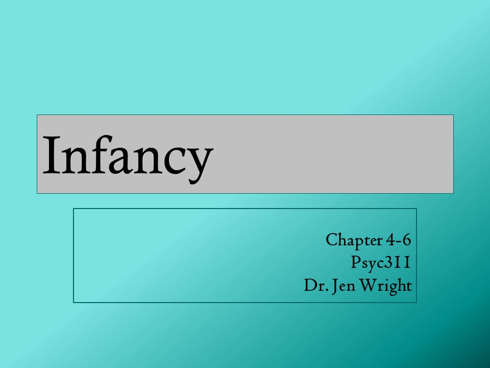 Chapter 4-6 Psyc311 Dr. Jen Wright