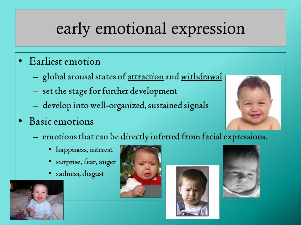 early emotional expression