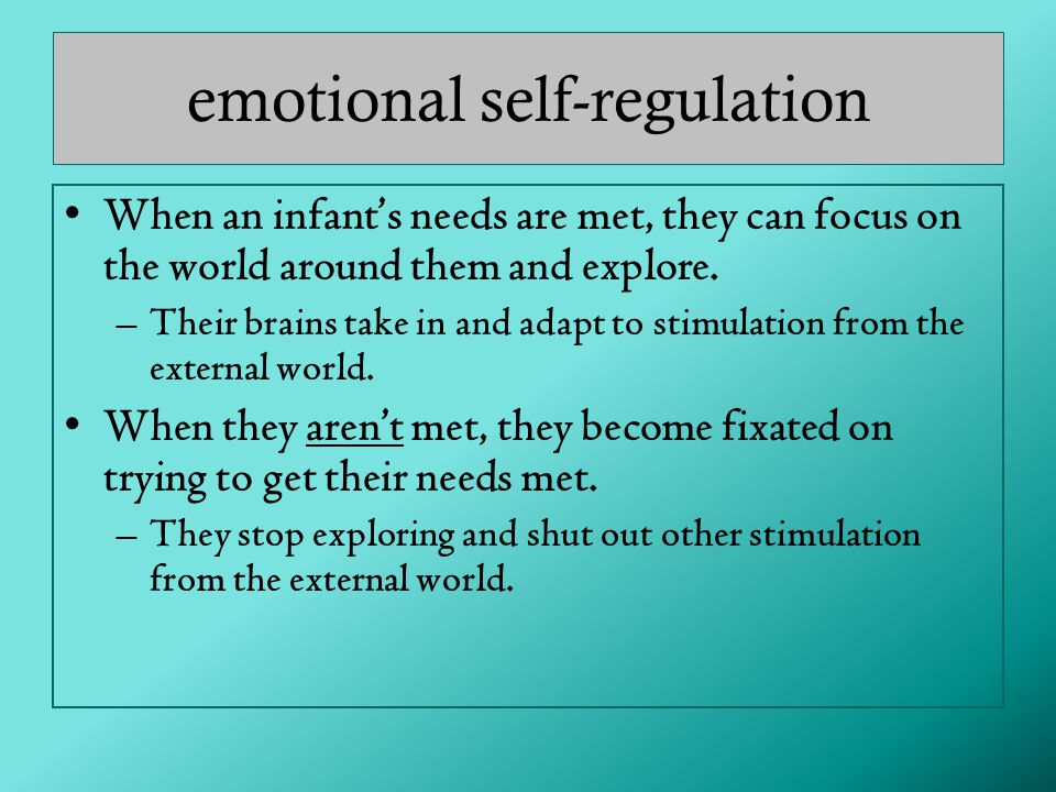 emotional self-regulation