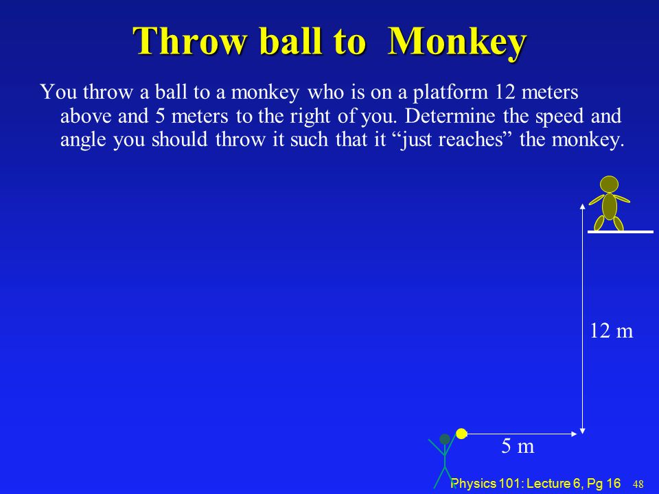 Throw ball to Monkey