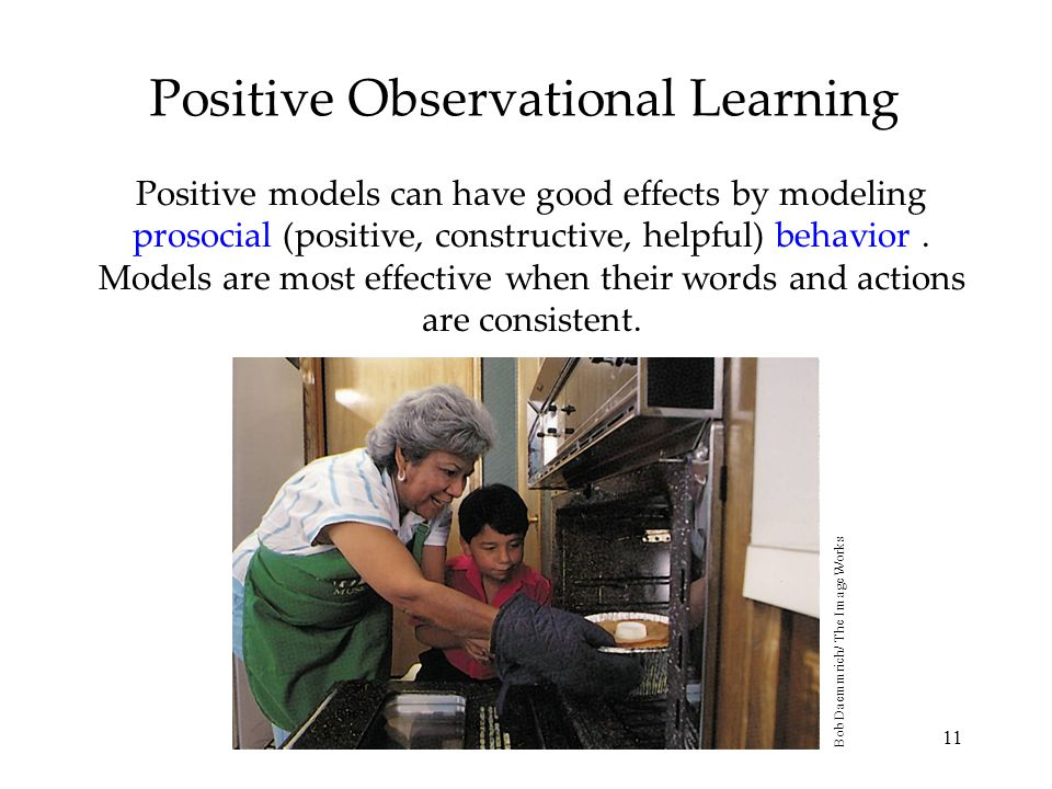 Positive Observational Learning