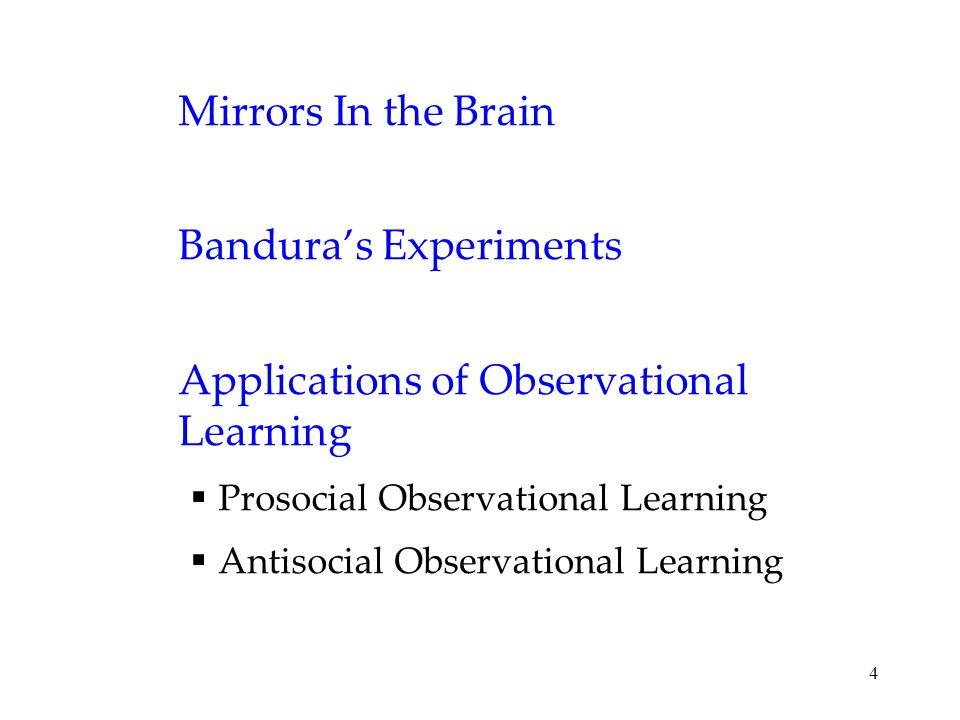 Bandura's Experiments