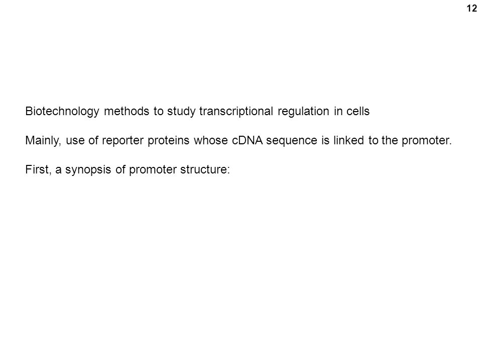 Biotechnology methods to study transcriptional regulation in cells