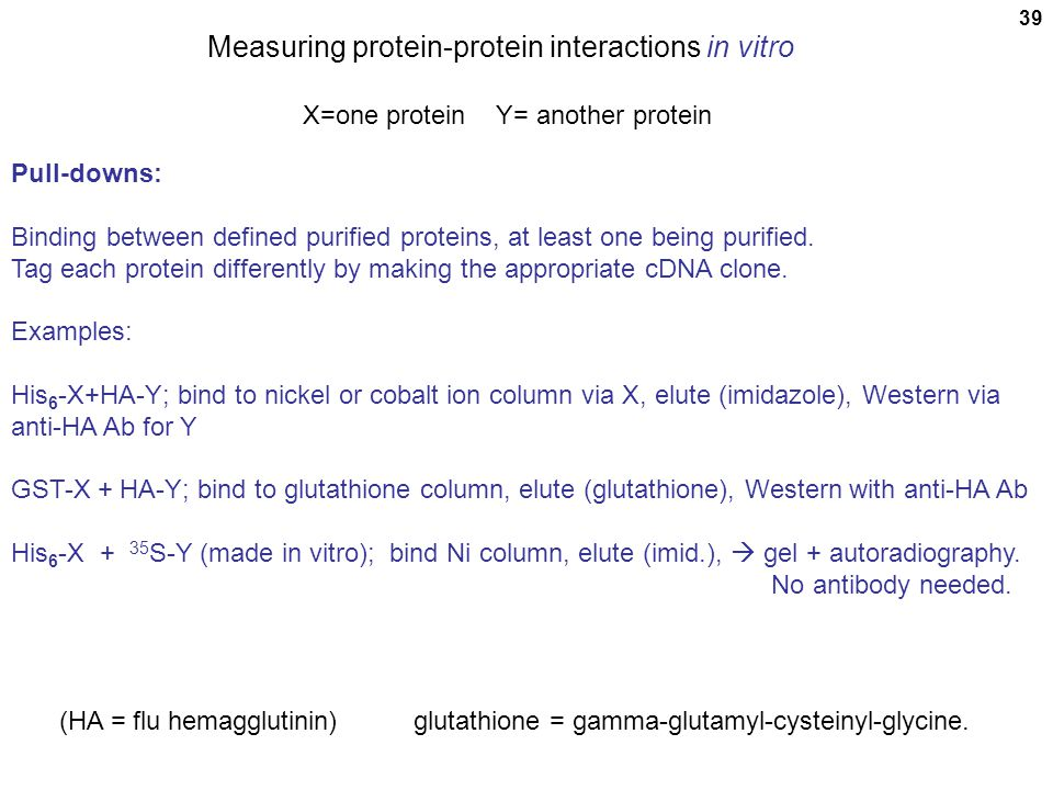 Measuring protein-protein interactions in vitro