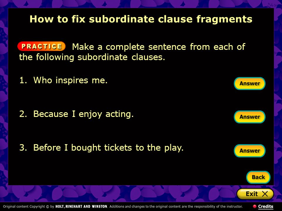 How to fix subordinate clause fragments