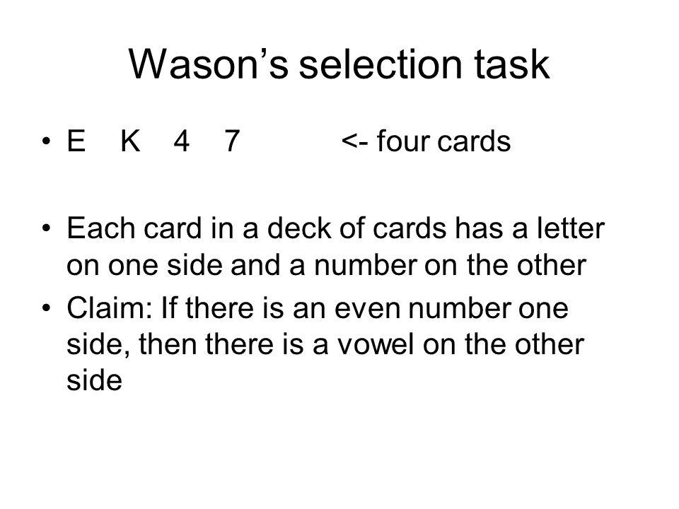 Wason's selection task