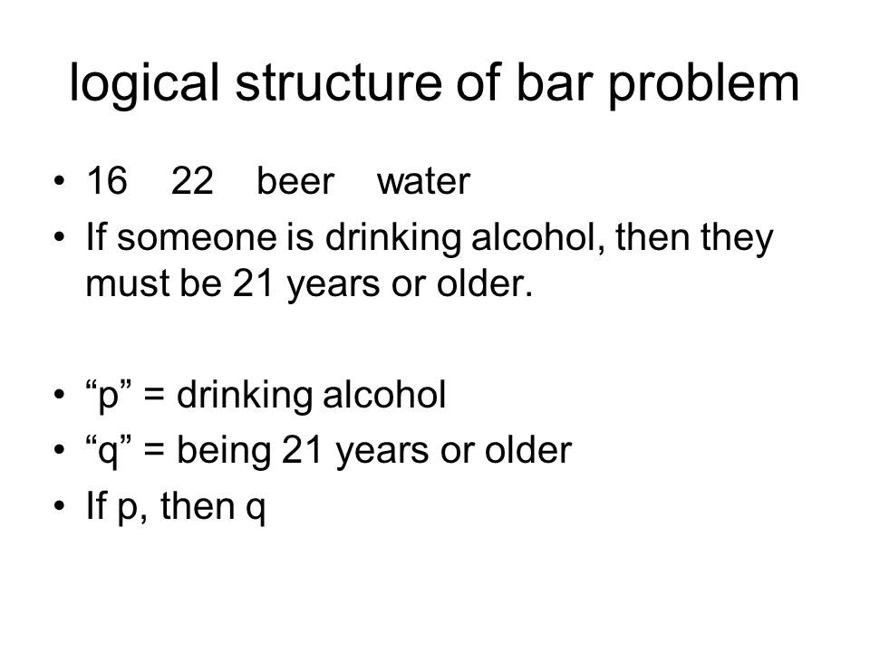 logical structure of bar problem