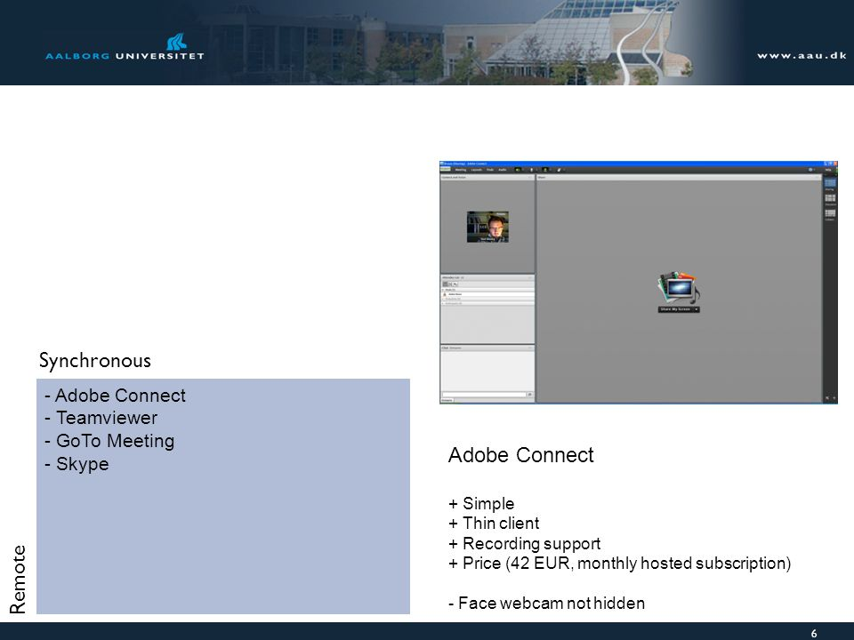 Synchronous Adobe Connect Remote Adobe Connect Teamviewer GoTo Meeting
