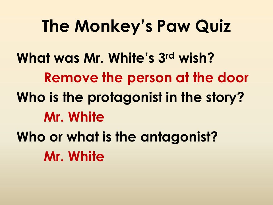 The Monkey's Paw Quiz