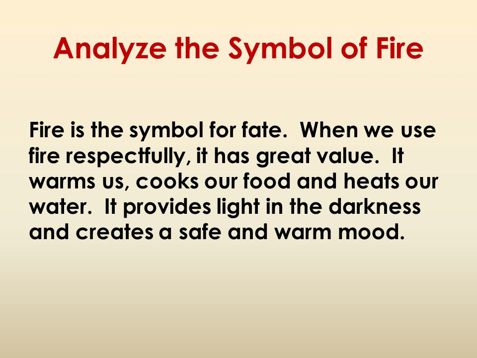 Analyze the Symbol of Fire