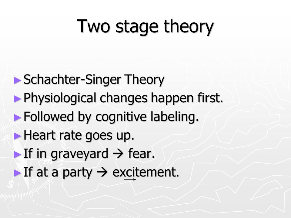 Two stage theory Schachter-Singer Theory