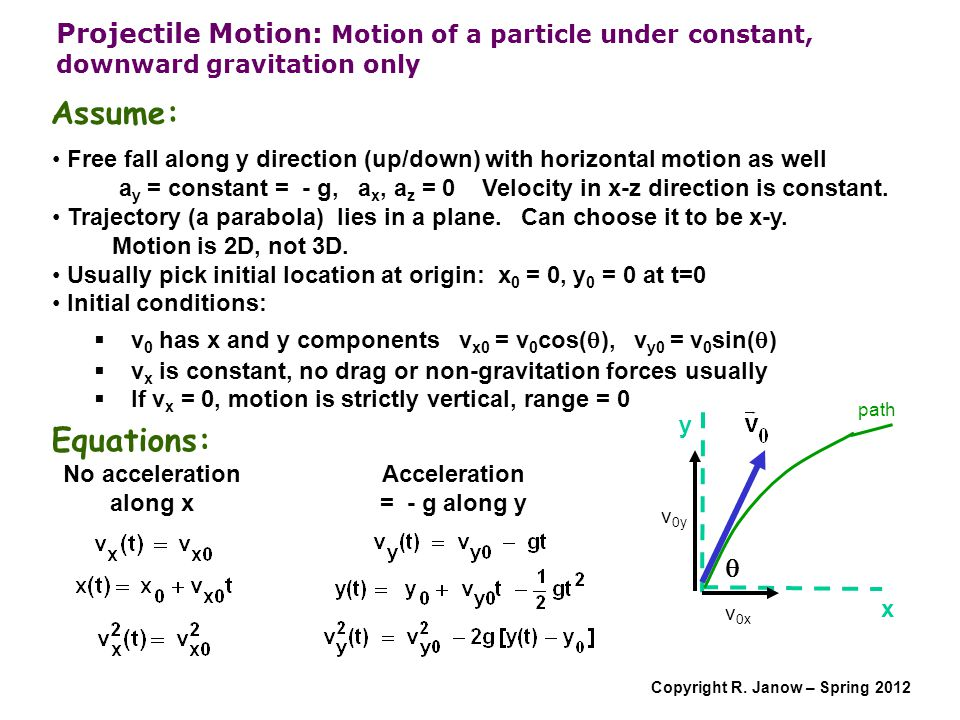 No acceleration along x
