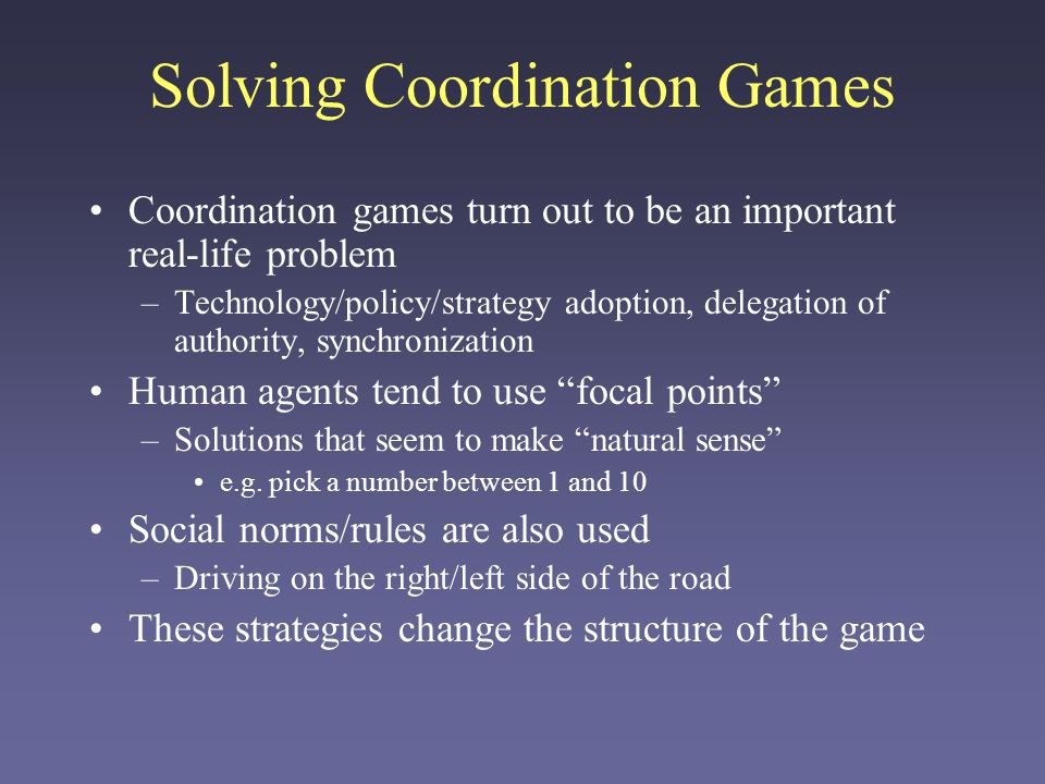 Solving Coordination Games