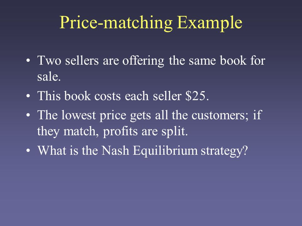 Price-matching Example