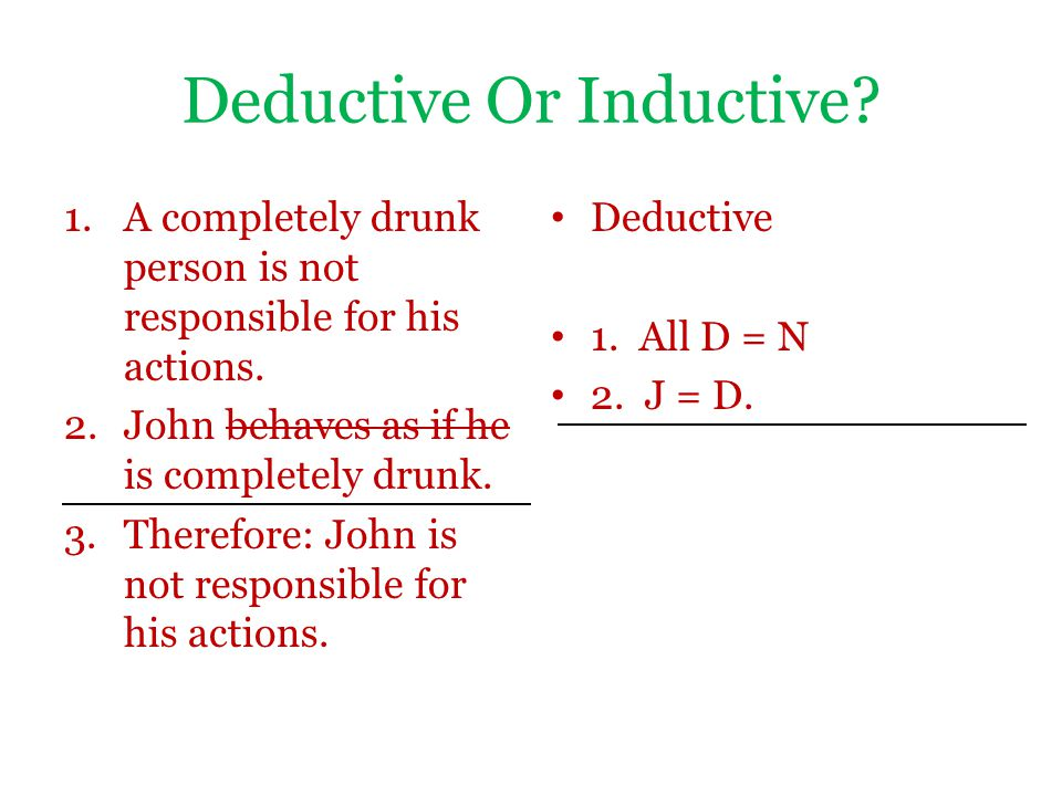 Deductive Or Inductive