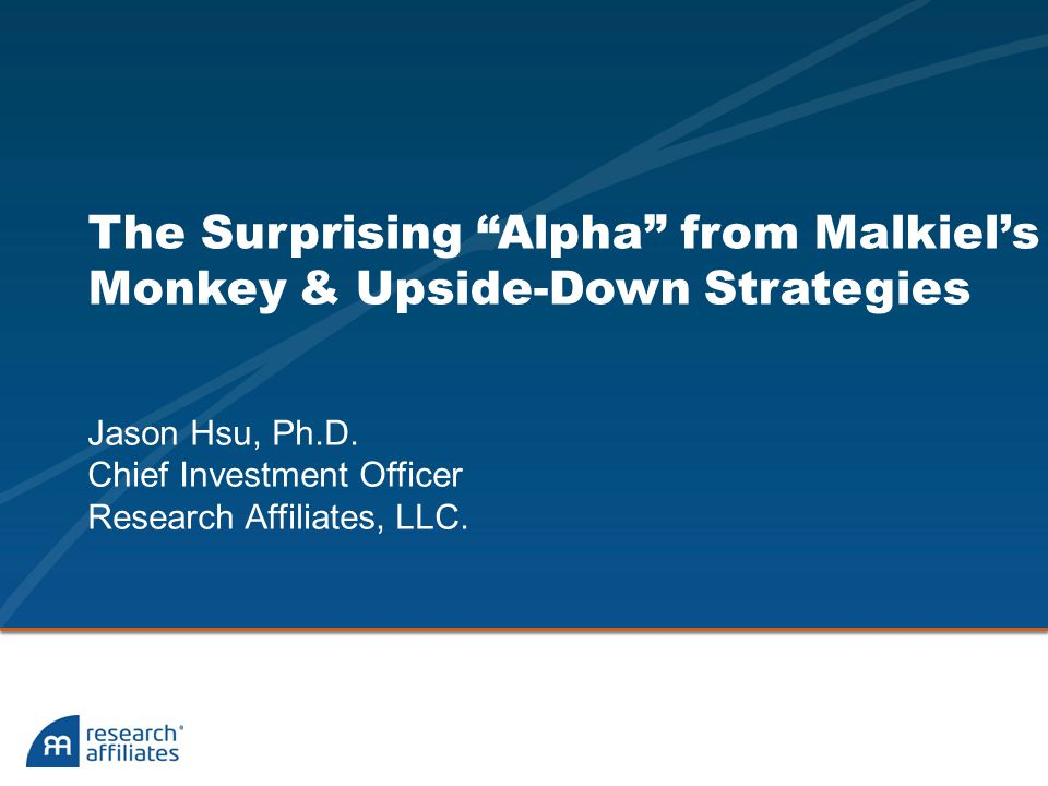 The Surprising Alpha from Malkiel's Monkey & Upside-Down Strategies