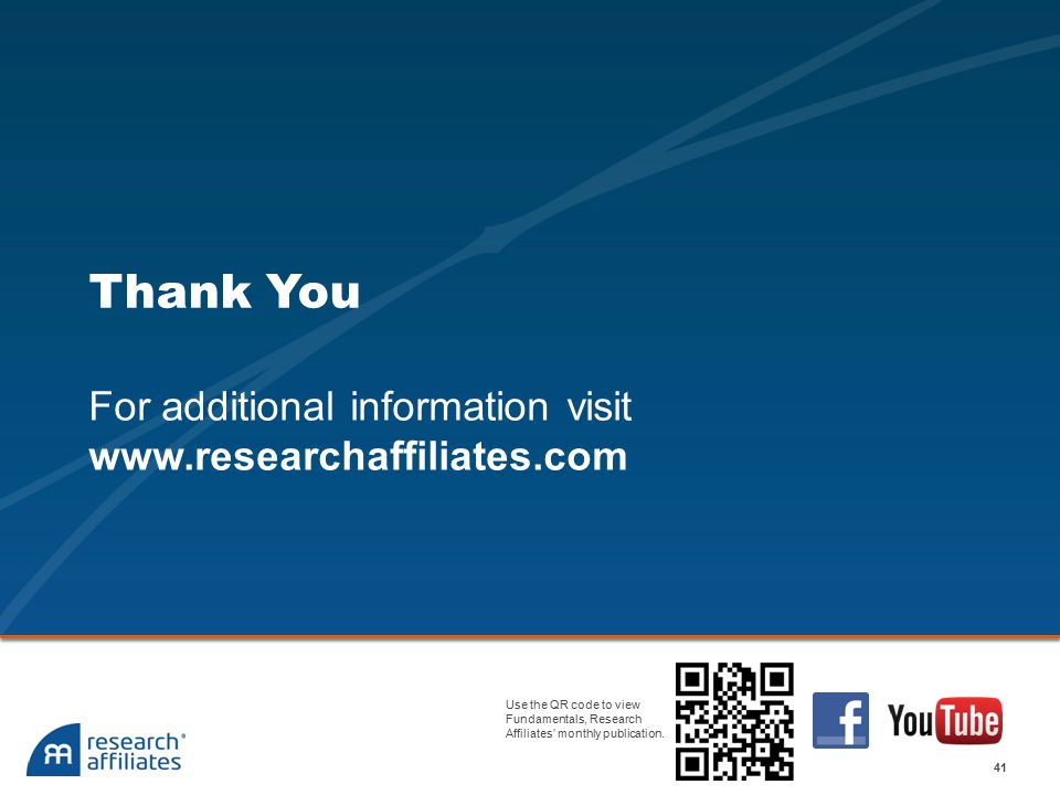 For additional information visit www.researchaffiliates.com