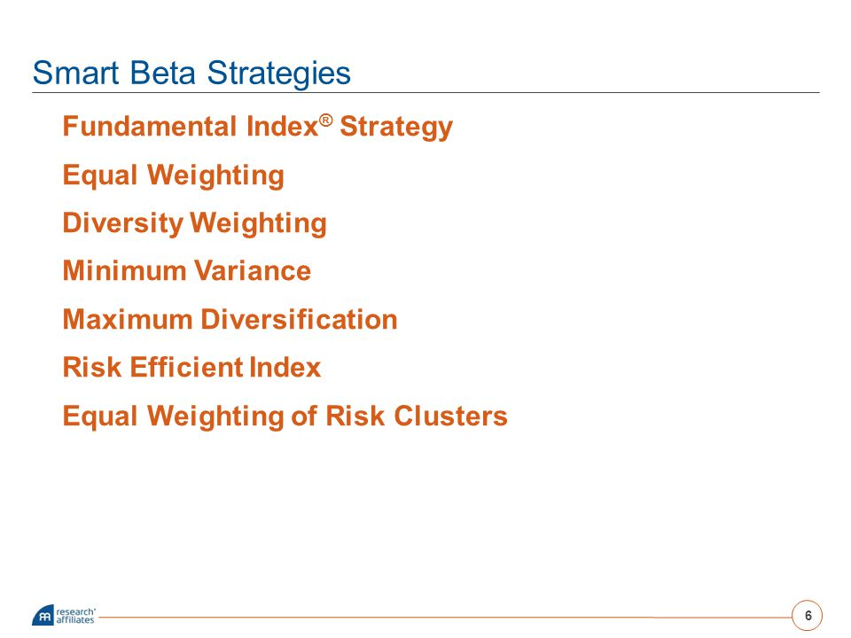 Smart Beta Strategies