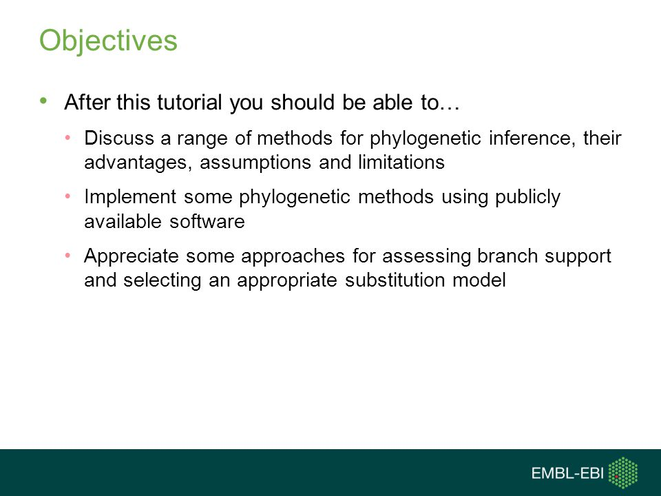 Objectives After this tutorial you should be able to…