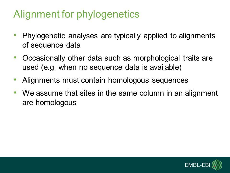 Alignment for phylogenetics