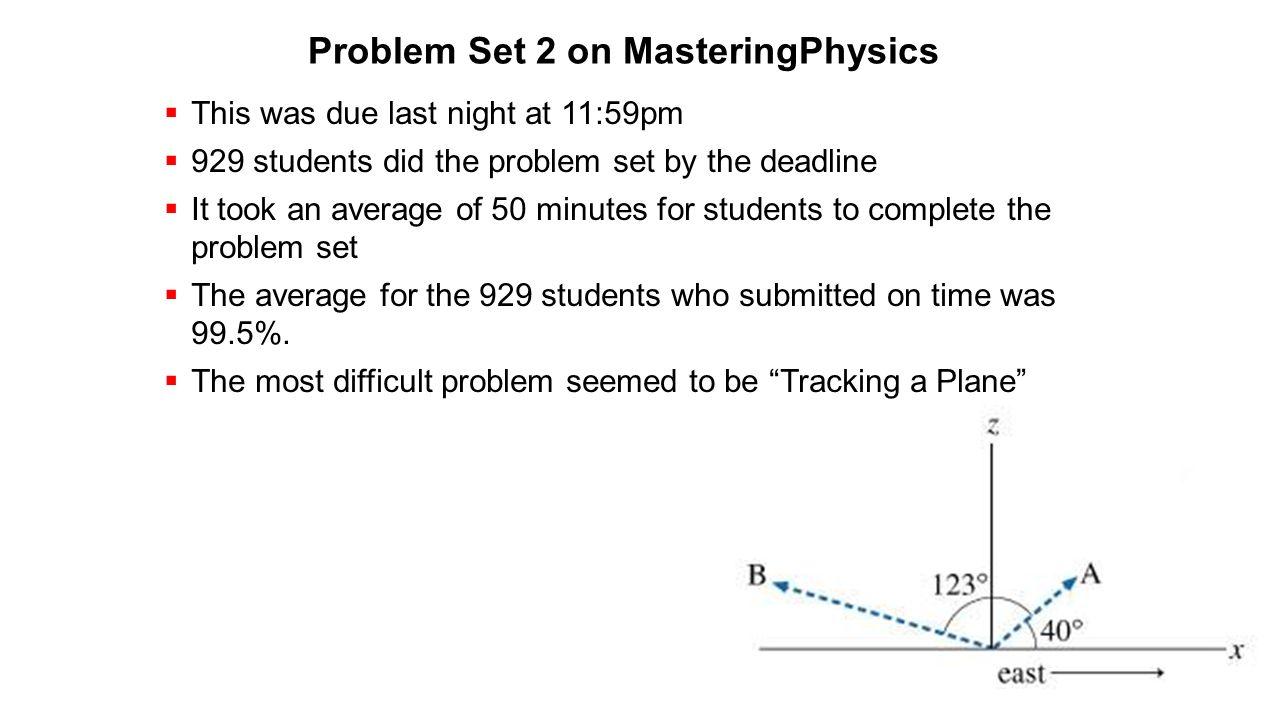 Problem Set 2 on MasteringPhysics