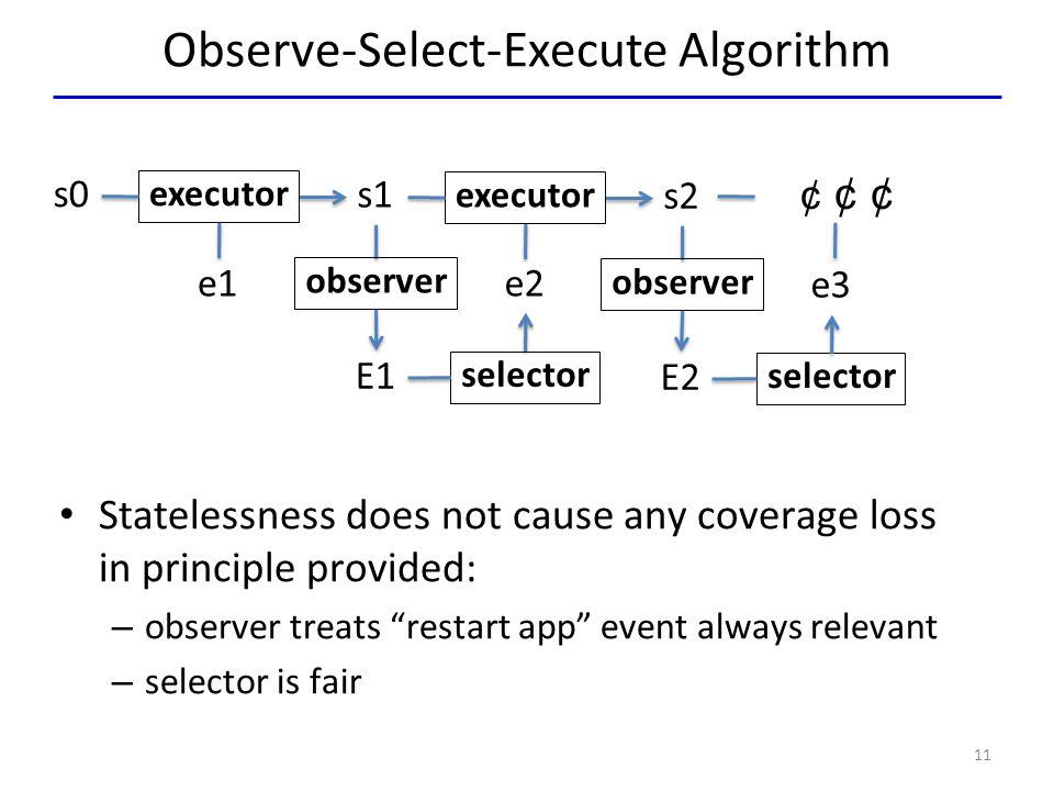Observe-Select-Execute Algorithm
