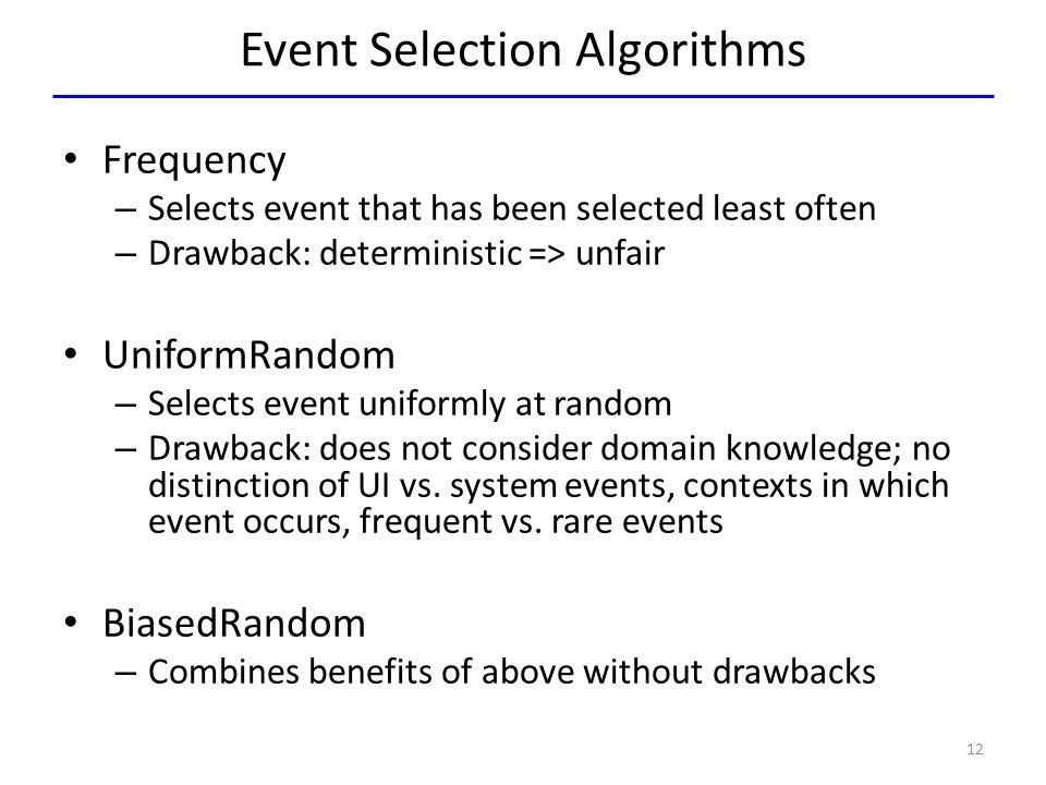 Event Selection Algorithms