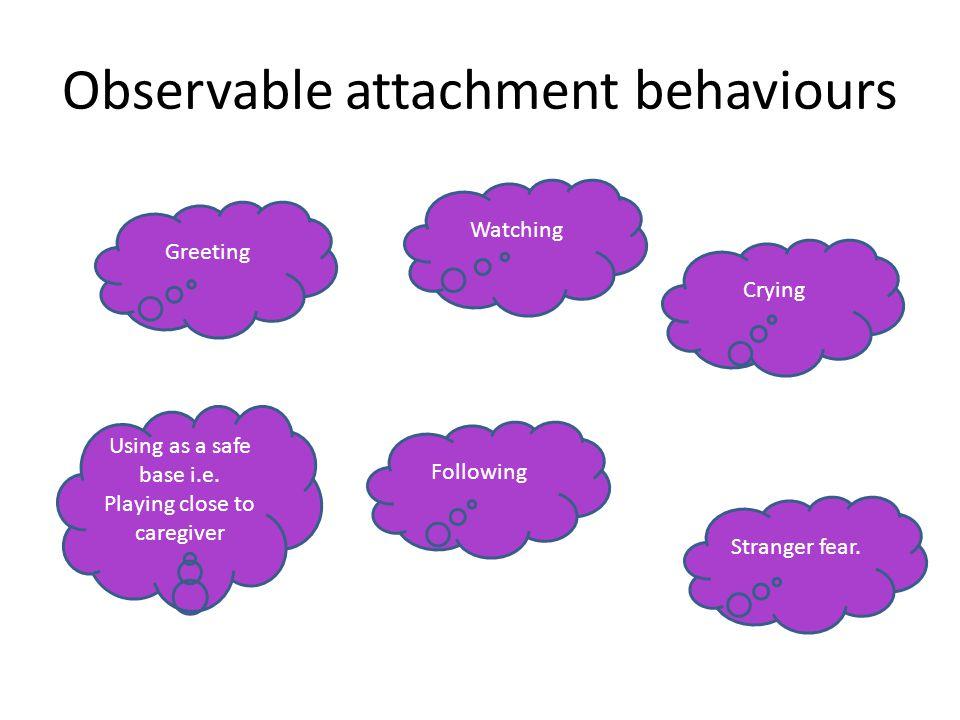 Observable attachment behaviours