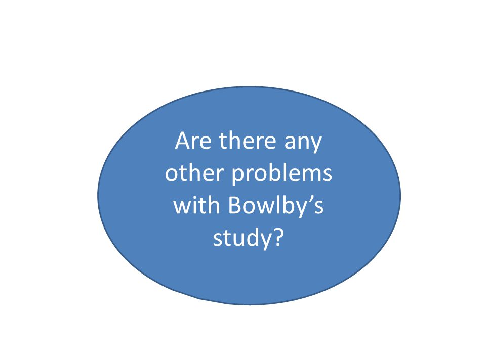 Are there any other problems with Bowlby's study